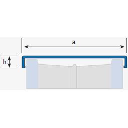 Profilé finition de parois en verre 265A