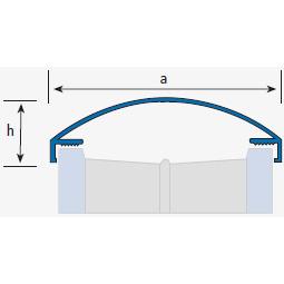 Profilé finition de parois en verre 277A