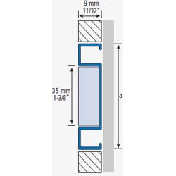 Listel aluminium verre 244A