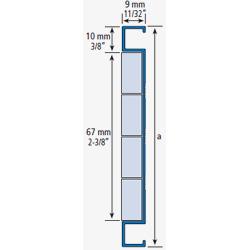 Listel aluminium verre 266A