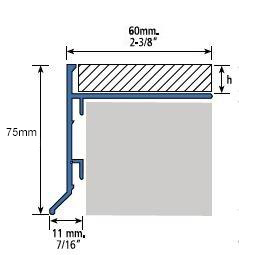 Profilé pour balcon 282A