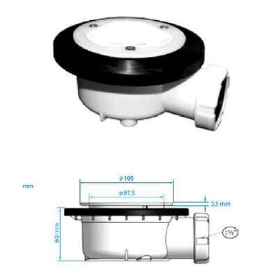 bonde-siphon-horizontal-D2-110-mm