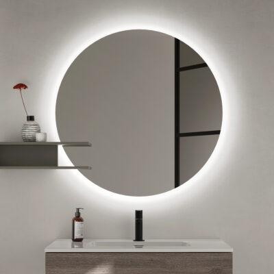 Miroir 80 cm rond led