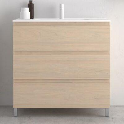 meuble salle de bain 80cm 3 tiroirs